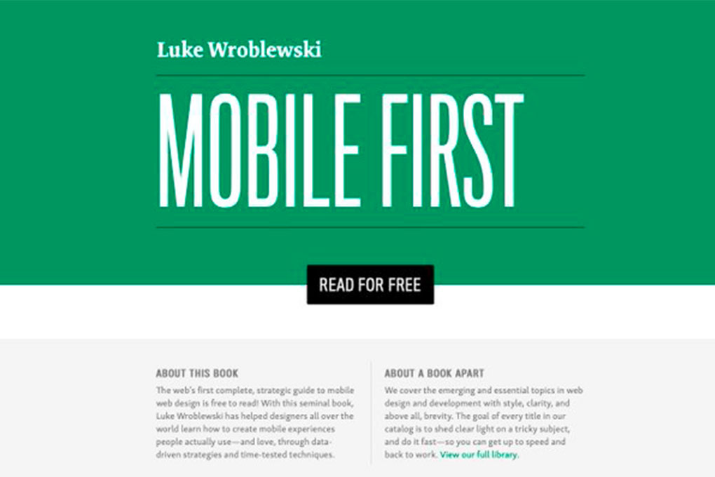 """""""Mobile First"""" ebook is free for all online"""