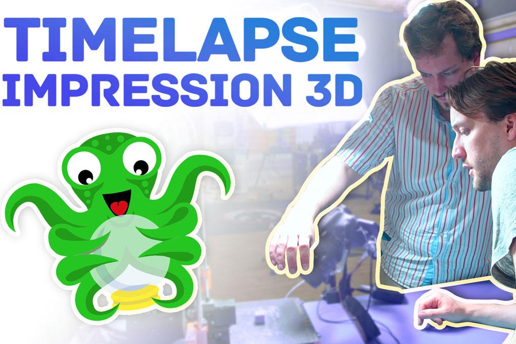 Créez de magnifiques timelapse de vos impressions 3D