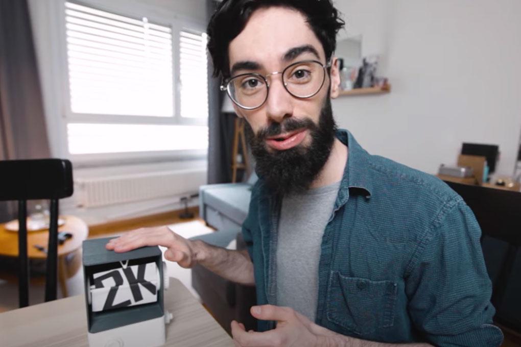 Folioscope motorisé en impression 3D
