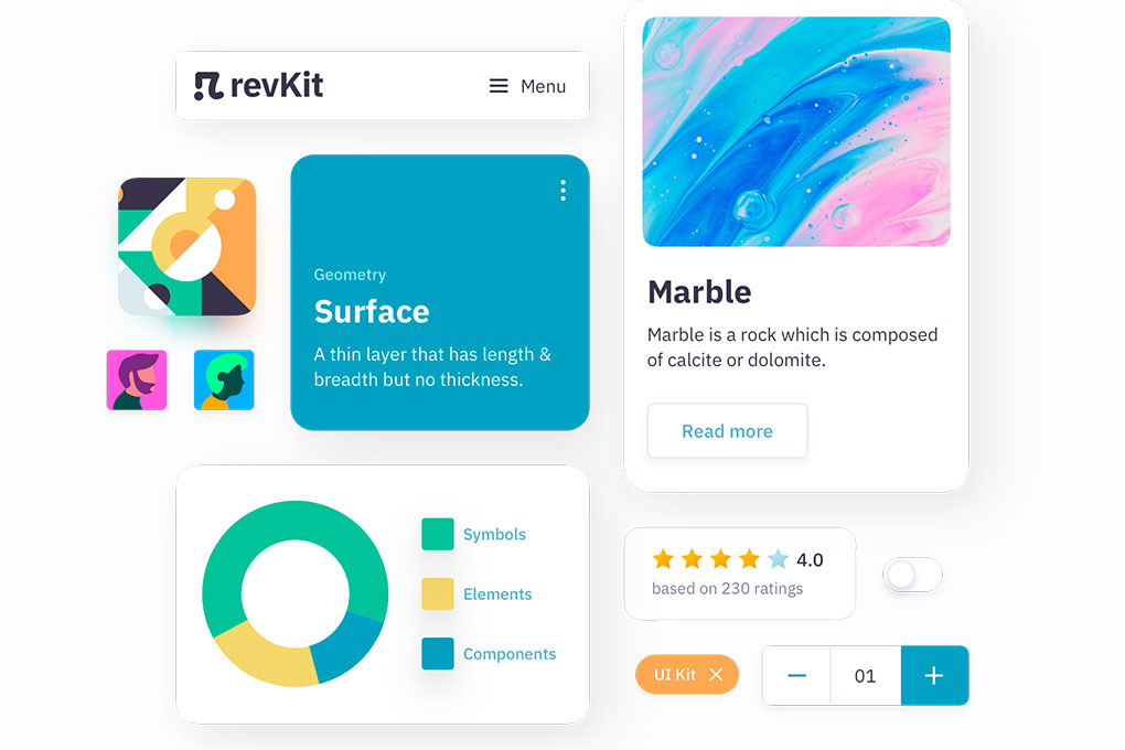 revKit - Design System UI Kit for busy designers
