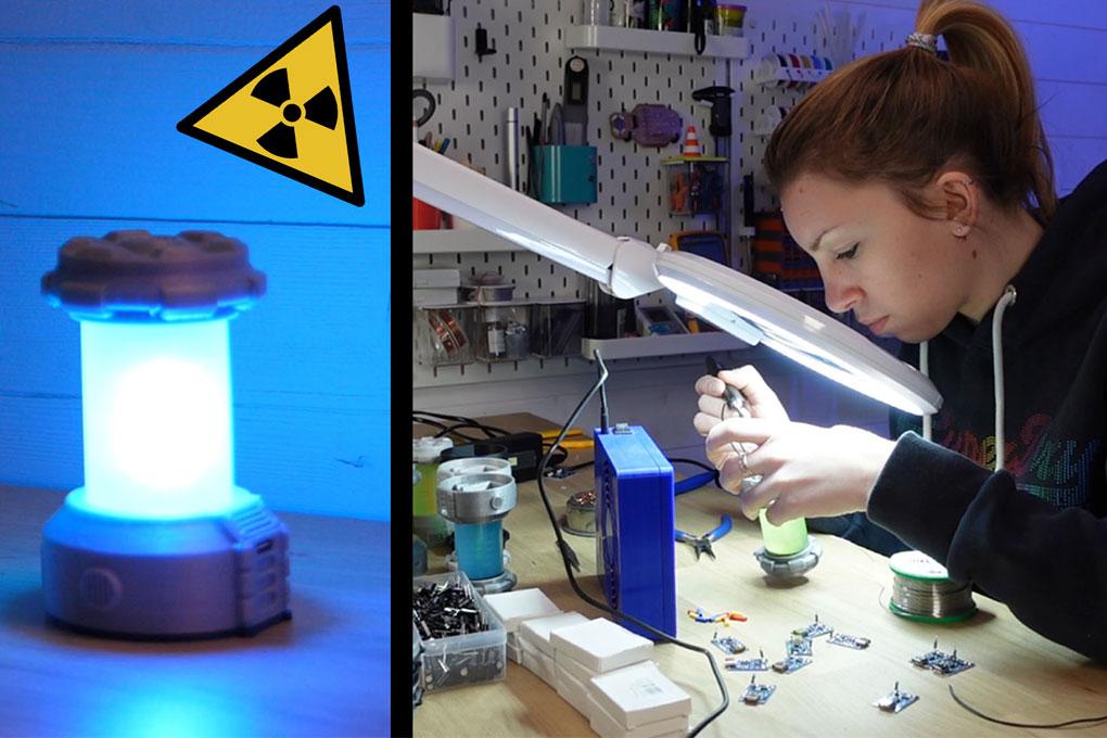 Fabriquer une lanterne radioactive